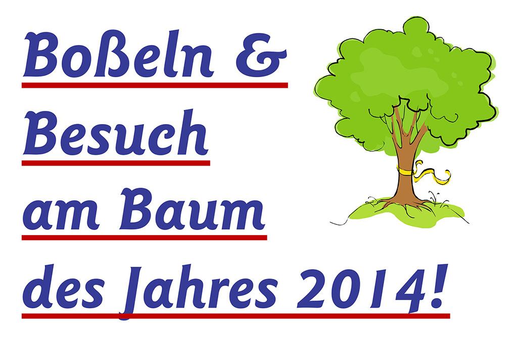 Boßeln und Besuch beim Baum des Jahres 2014