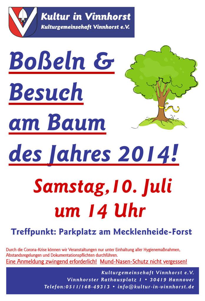 Bosseln & Besuch beim Baum des Jahres 2014